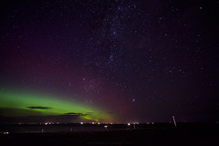 Milky way and northern lights right now! :-) (Premysl Fojtu) Tags: aurora northernlights display milkyway astronomy astrophotography landscape seascape skyscape sky night green colour stars orkney scotland
