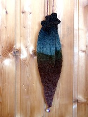 Lady of the lake in the woods bag (LaWendeltreppe) Tags: wool bag knitting pixie