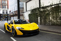 P1. (Alex Penfold) Tags: road street london yellow model front mclaren production supercar p1 hypercar