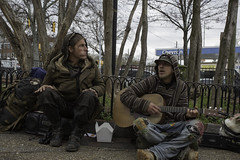 Playing Guitar (Metacro) Tags: people music person singing guitar homeless sing homelesspeople