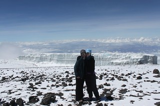 Glaciers at the summit of Kilimanjaro