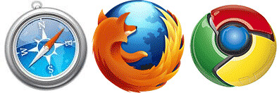 Safari Firefox and Chrome Icons