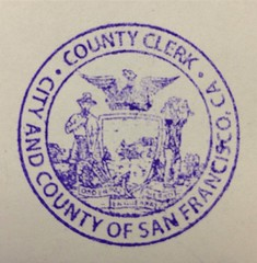 San Francisco County Clerk (California Apostille) Tags: california county ca san francisco clerk apostille uploaded:by=flickrmobile flickriosapp:filter=nofilter