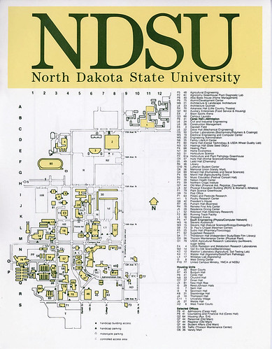 North Dakota State University campus map, 1988