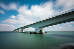 Sixty one seconds of the Zeelandbridge {Explored} (80D-Ray) Tags: longexposure architecture zeeland zeelandbrug noordbeveland nd119