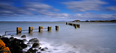 On a windy day... (RF-Edin) Tags: longexposure scotland pier fife wwii kingdom defences leefilters bigstopper nikond300s