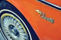 Chevette (Hi-Fi Fotos) Tags: orange classic chevrolet car emblem logo nikon bowtie sigma chevy badge lettering economy tincan compact chevette d5000 18250mm carbokeh cmwdorange cmwdweeklywinner