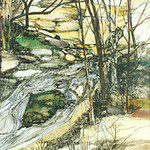 """<b>Dunning's Spring</b><br/> Eckheart, #282, Watercolor Painting<a href=""""http://farm9.static.flickr.com/8126/8655585536_26d0b350af_o.jpg"""" title=""""High res"""">∝</a>"""