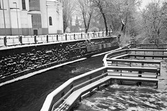 Balta.3 (Vygintas R.) Tags: city winter white snow film water photoshop river iso200 december rangefinder 35mmfilm 2009 lithuania vilnius lietuva fujisuperia200 uupis bessar2a nikoncoolscan5000 vilnel  vygintasrainskas 294210