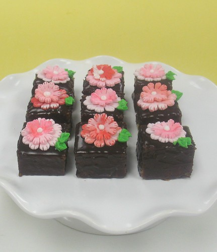 [Image from Flickr]:Carnations and Chocolate Petit Fours