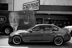E90 M3 on ISS Wheels (AhmadHashim) Tags: people blackandwhite bw black cars sedan orlando downtown wheels event bmw fujifilm m3 carshow gunmetal e90 x100 versiontwo carmeet polishedlip versiontwolaboratory issforged v2labs