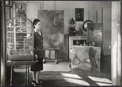 Dora Maar dans son atelier, rue de Savoie (photosurrealiste) Tags: lumire cage ombre peinture atelier brassai doramaar rmn
