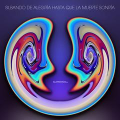 Silbando de Alegría hasta que la Muerte Sonría (Alan Margall) Tags: art arte cover musica electronica tapa electronic diseño triphop margall