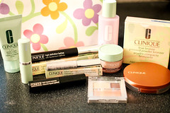 clinique haul (amandapanda) Tags: beauty makeup gift mascara products cosmetics eyeshadow bronzer clinique