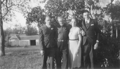 Al, Gust, Mary, and Ray Anderson, 1935 (jkerssen) Tags: 1930s