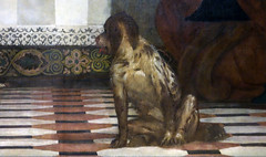 Detail of dog, Paolo Veronese, Feast in the House of Levi