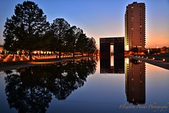 We Will Never Forget... (ElizabethNDP) Tags: reflection oklahoma memorial nps bluehour okc bombing oklahomacity april19th oklahomacitynationalmemorial oklahomanationalmemorial oklahomacitynationalmemorialmuseum