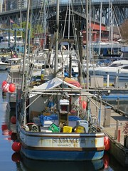 vancouver boat dock harbour falsecreek fishingboat fishermenswharf moored sundanceii