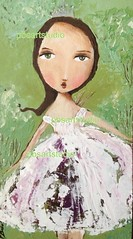 Woodland fairy (pbsartstudio) Tags: art girl painting fairy whimsical paletteknife