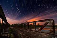 Puente de Marlo. 1 (E. de Juan) Tags: bridge moon night ro river stars puente noche estrellas nocturna circumpolar