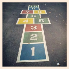 Hopscotch (Joe Shlabotnik) Tags: cameraphone playground hopscotch 2013 droid2 april2013 instagram