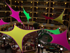 Food Show 2013 Ceiling Design (Hughie's Event Production Services) Tags: decor geoform ceilingtreatment