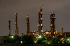 Oil plant at night (shinichiro*) Tags: japan spring april  nightview crazyshin kawasaki   2013  afsnikkor2470mmf28ged nikond800e plantnightview 20130430d028579