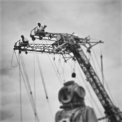 - portrait of a giant - (FRJ photography) Tags: bw white black france giant de la brittany noir view portait bretagne scuba nb et loire pays blanc vue dart nantes ville atlantique naoned dhistoire scaphandre