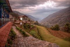 Hotel Landruk (pbr42) Tags: nepal hdr luminance landruk outdoor landscape mountainside mountain village path