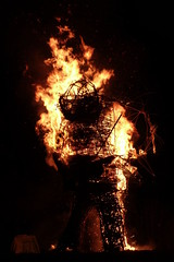 Head falls off (treehouse1977) Tags: wood fire flames may hampshire burning bonfire beltane beltain wickerman chalton butserancientfarm