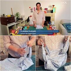 Vídeo Furoshiki UOL Mulher (super_ziper) Tags: fashion diy video handmade mulher moda craft bolsa pap tecido uol furoshiki superziper