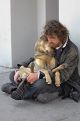 You've got a friend... (NRG Photos) Tags: street dog man spain friend arm candid strasse poor beggar hund mann freund spanien jamestaylor bettler youvegotafriend schnappschus eurocrisis eurokrise