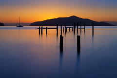 Angel Island (mikeSF_) Tags: california county seascape beach mike silhouette angel landscape island photography pier san francisco long exposure day pentax marin clear filter le nd pilings swedes posts sausalito k5 hoya oria 9stop da55 httpmikeoriazenfoliocom