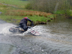 River Crossing fail (fatboyke (Luc)) Tags: bridge irish wet water river scotland funny crossing lol down harley hills davidson sportster borders scotish causeway bloopers cheviot gagreel streetglide