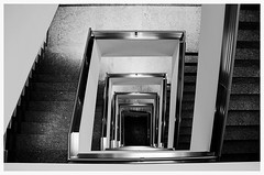 silverling (blick.kontakt - fotoristin) Tags: light urban blackandwhite abstract lines architecture stairs silver shadows hamburg treppe staircase architektur silber geometrie treppenhaus gelnder linien blickkontakt schwarzweis silverling fotoristin
