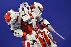 Medic_07 (Shadowgear6335) Tags: red white robot lego system technic medic bionicle moc shadowgear shadowgear6335