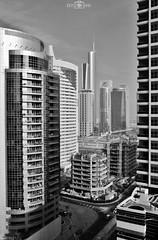More buildings under construction - Dubai Marina, UAE (kadryskory) Tags: kadryskory urban dubai dubaimarina uae skyline travel trip bw bnw streets