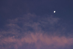 Little Moon (TheJennire) Tags: photography fotografia foto photo canon camera camara colours colores cores light luz young tumblr indie teen sky cu cielo pastel clouds nature sunset moon lua luna pink purple
