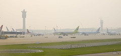 Airplanes on the tarmac (A. Wee) Tags: korea  incheon airport  seoul