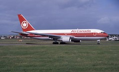C-GDSY. Air Canada Boeing 767-233 (Ayronautica) Tags: 1989 scanned aviation pik egpk prestwick b762 airliner ayronautica aircanada cgdsy
