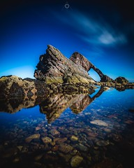 Double Bow (Augmented Reality Images (Getty Contributor)) Tags: bluesky bowfiddlerock canon coastline landscape leefilters longexposure morayshire portknockie reflection rocks scotland seascape water
