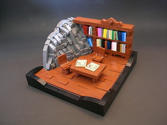 Mountain Library (Mr. Cab) Tags: lego foitsop moc castle lom medieval library mountain rockwork