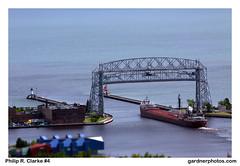 Philip R. Clarke #4 (gardnerphotos.com) Tags: philiprclarke duluthminnesota duluthpierheadlight duluthaerialliftbridge gardnerphotoscom lakesuperior laker lakers greatlakesshipping