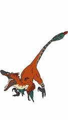 Velociraptor Alpha (nathannethis) Tags: orange red fast quick swift seizer swiftthief carnivorous eudromaeosaur dromaeosaur cretaceous extinction dinocrisis turok birdlikeraptor birdlike dinosaurking fossilfighters fossils fossil velociraptormongoliensis nathan tyner featheredvelociraptor featheredraptor redraptor featheredtheropod birdlikedinosaur packleader packhunter pack raptors carnivore theropod bird beast dinosaurart cretaceousperiod drawing nathantyner alphamale male alpha velociraptor raptor dinosaurs dino