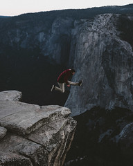 The Jumping Thing 2 (Carter_Wilson) Tags: adventure elcapitan granite sunrise taftpoint yosemite