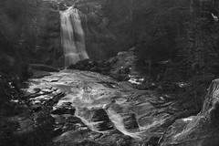DSC_3363-1 (MartinDavid07) Tags: lake france pyrnes bw black white winter sky contrast pau waterfall