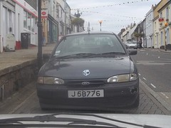 A Long Way From Home (occama) Tags: bangernomics ford mondeo mark one mk1 old car cornwall uk jersey reg plate green