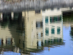 Trick Of The Light (Florence 2016 ) (dawn_macroart) Tags: fierenze arno italy reflections colour buildings abstract patterns lighting