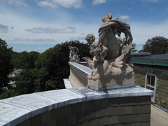 Roof of The Elms (ty law) Tags: newportri cottages vanderbilt thebreakers cliffwalk salveregina marblehouse rosecliff theelms servanttour bathroom gildedage robberbaron captainofindustry edwardian american grand grandiose flowers atlanticocean rhodeisland copper