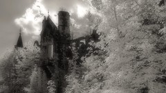 Dunalastair House (Shot Yield Photography) Tags: scotland uk greatbritain british scottish dunalastair mansion house manor lostplace ruins exploration derelict dereliction decay abandoned premises building architecture historic creepy scary spooky eerie lost place haunted dark mystic mysterious atmosphere dream like dreamlike picture shot yield foto photo image black white monochrome ir infra red infrared photography shotyieldphotography dunalastairhouse